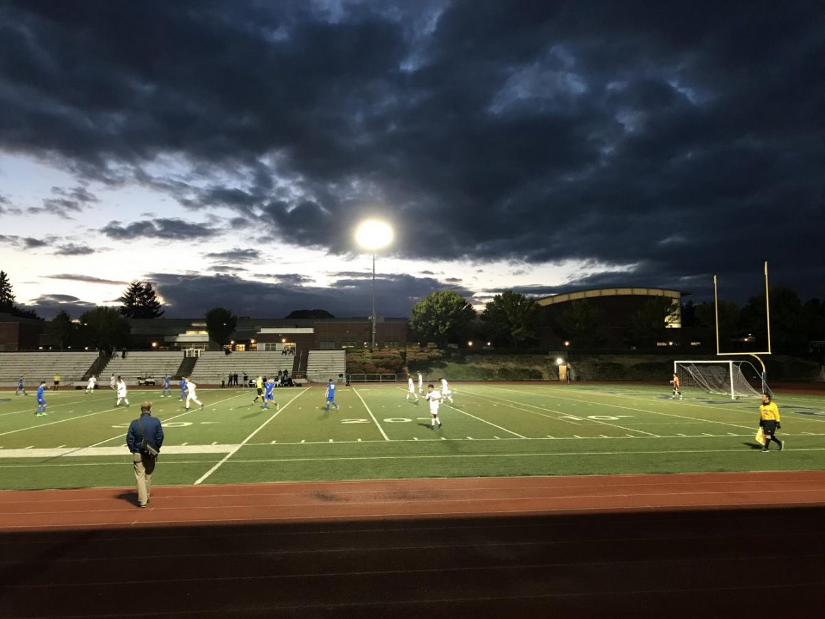 Twilight on the soccer field