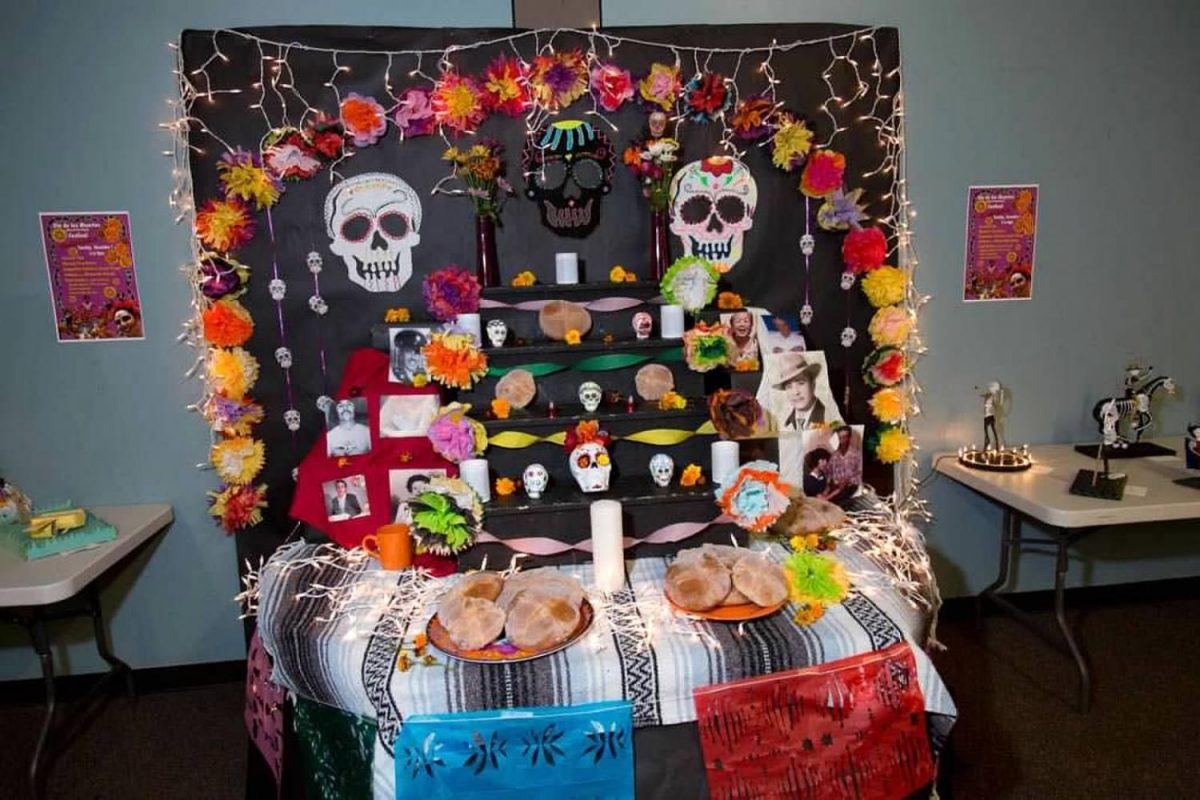 A beautiful display at the Day of the Dead celebration.