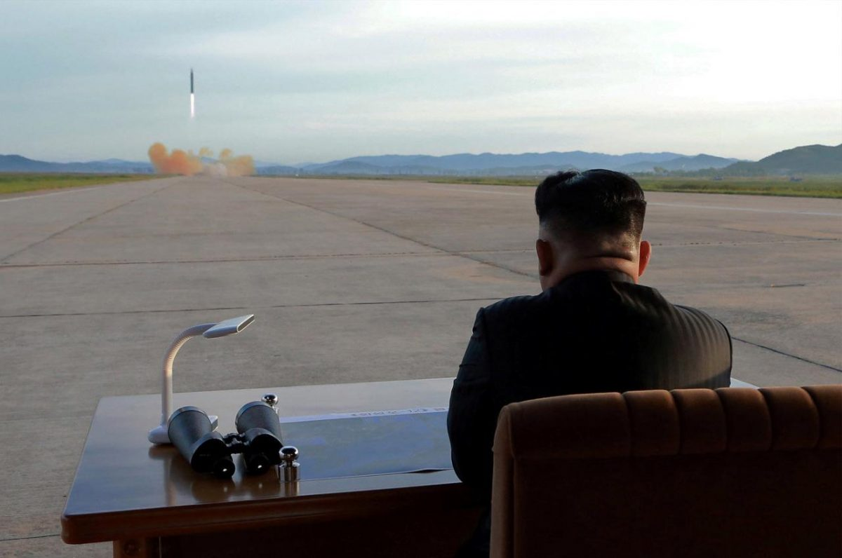 FILE+PHOTO%3A+North+Korean+leader+Kim+Jong+Un+watches+the+launch+of+a+Hwasong-12+missile+in+this+undated+photo+released+by+North+Korea%27s+Korean+Central+News+Agency+%28KCNA%29+on+September+16%2C+2017.+KCNA+via+REUTERS