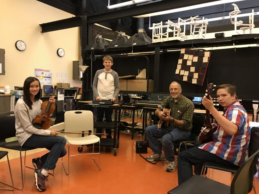 Mr. Hyman hosts a jam session at lunch.