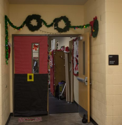 The weight room - the most famous decorated door of all?
