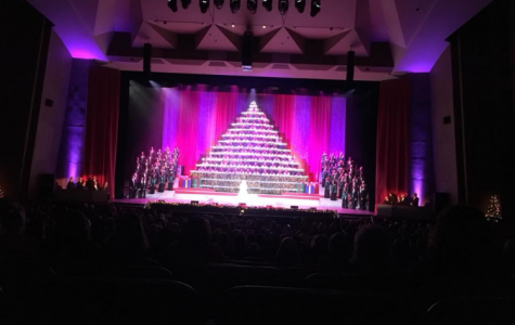 Wilsonville choir perform at the singing Christmas tree