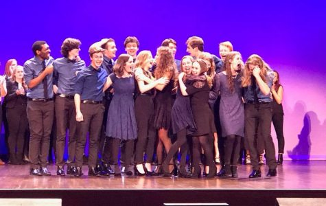 Soul'd Out celebrate their victory at the ICHSA competition in Salem, Oregon.  The group will travel to New York in April for the national competition.