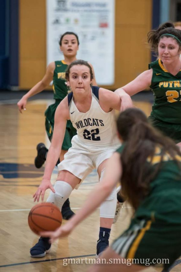 Cydney Gutridge charges down the court