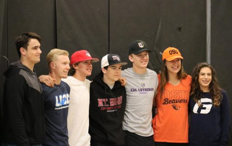 Spring sport athletes sign to play in college