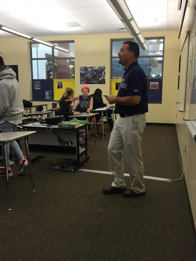 Mr. Mitchell presented the math lesson to his students. He is looking forward to this school year at Wilsonville High School.