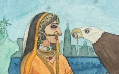 Kaur's Art explores the relationship between her native India and the United States