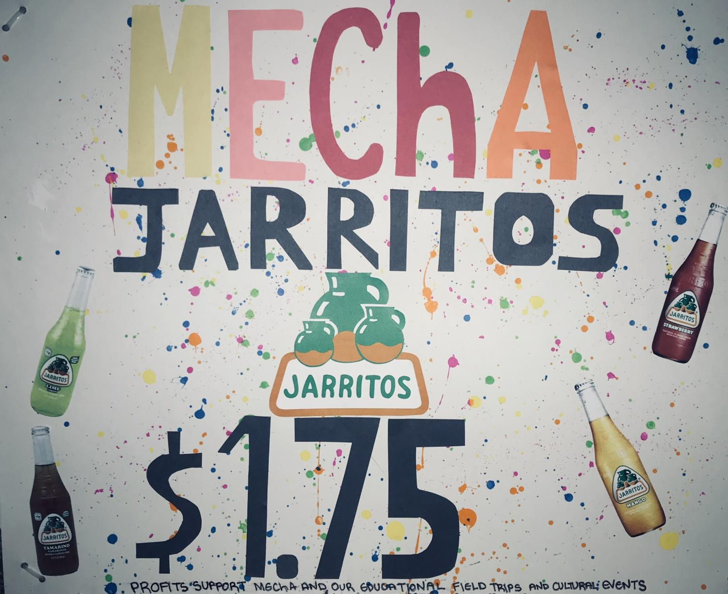 Poster that allows customers to see flavors, pricing, and where profits go. Poster will be displayed  on the Jarritos cart that can be seen Fridays during lunch.