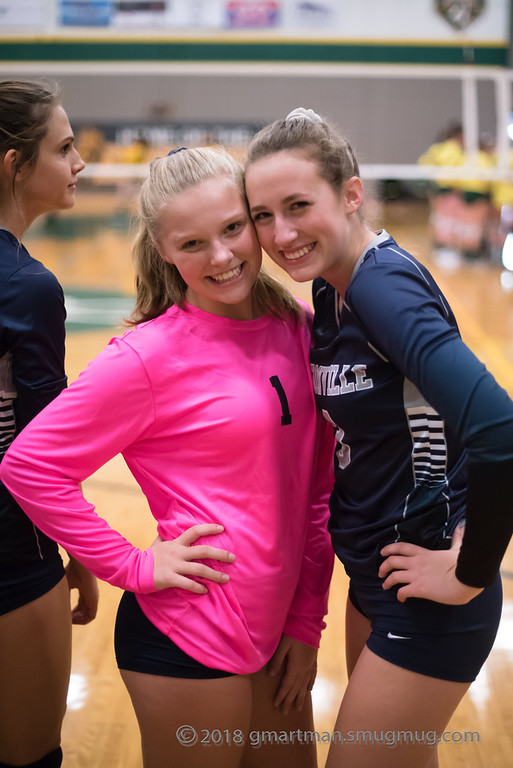 Juniors+Grace+Thompson+and+Kennedy+Juranek+before+a+match.+The+Wildcats+are+undefeated+in+league+this+year%2C+and+hoping+to+win+the+state+playoffs.