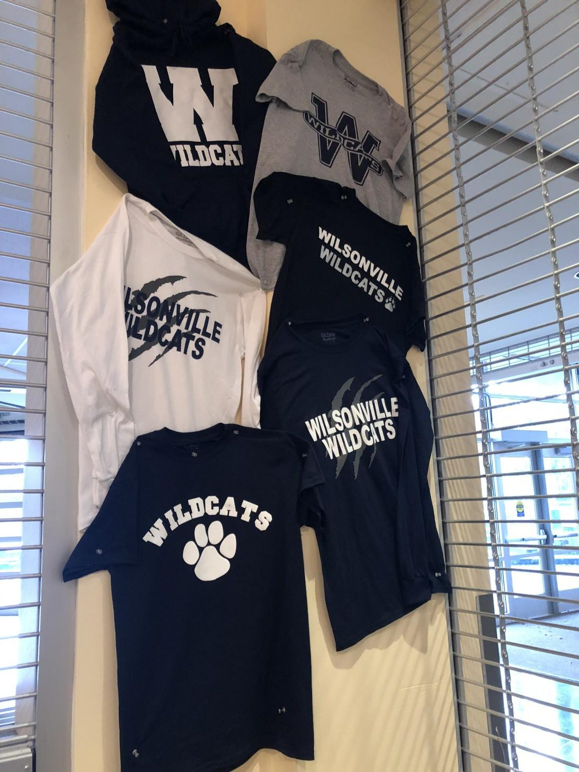 Image of current items in student store