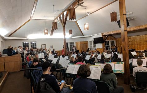 Wilsonville High School's band students practices diligently at their retreat. They left on November 30th and returned the following day.