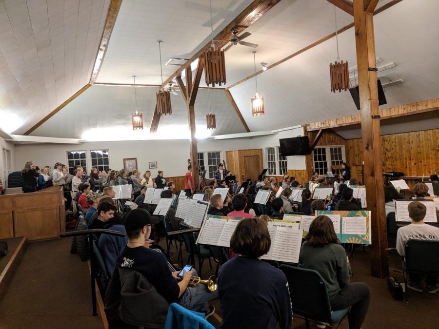 Wilsonville+High+School%27s+band+students+practices+diligently+at+their+retreat.+They+left+on+November+30th+and+returned+the+following+day.+