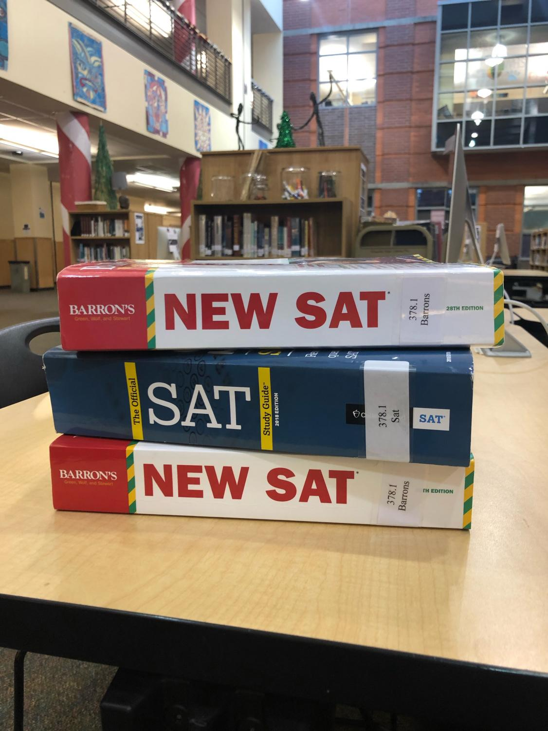 In order to provide students a way to study for their next big test at school, the WVHS library has stocked up with study books. You can go check one out now!