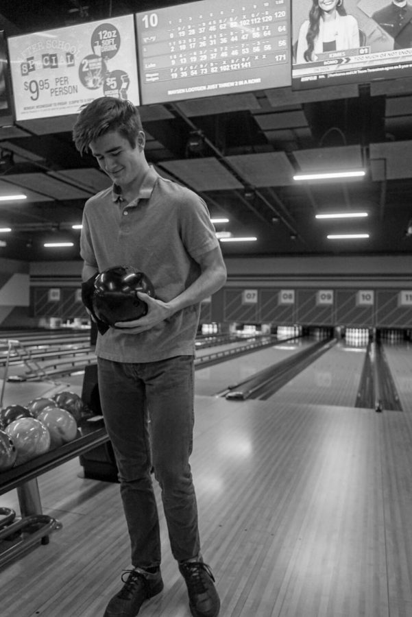 Wilsonville bowler from the bowling team takes on a foreign set of lanes to make is mark and make some quality rolls.