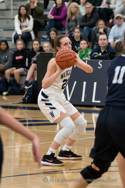Cydney+Gutridge+shoots+a+three+against+Skyview.+She+was+nominated+for+the+2019+McDonald%27s+All+American+Games.