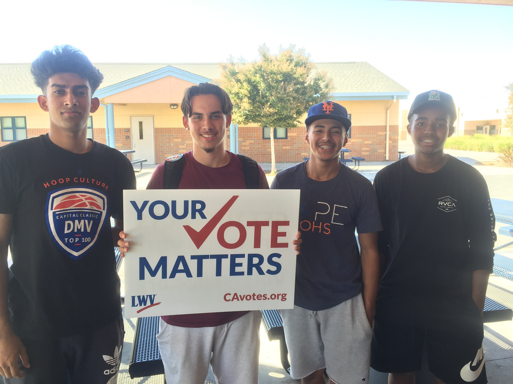 These high school student have registered to vote.