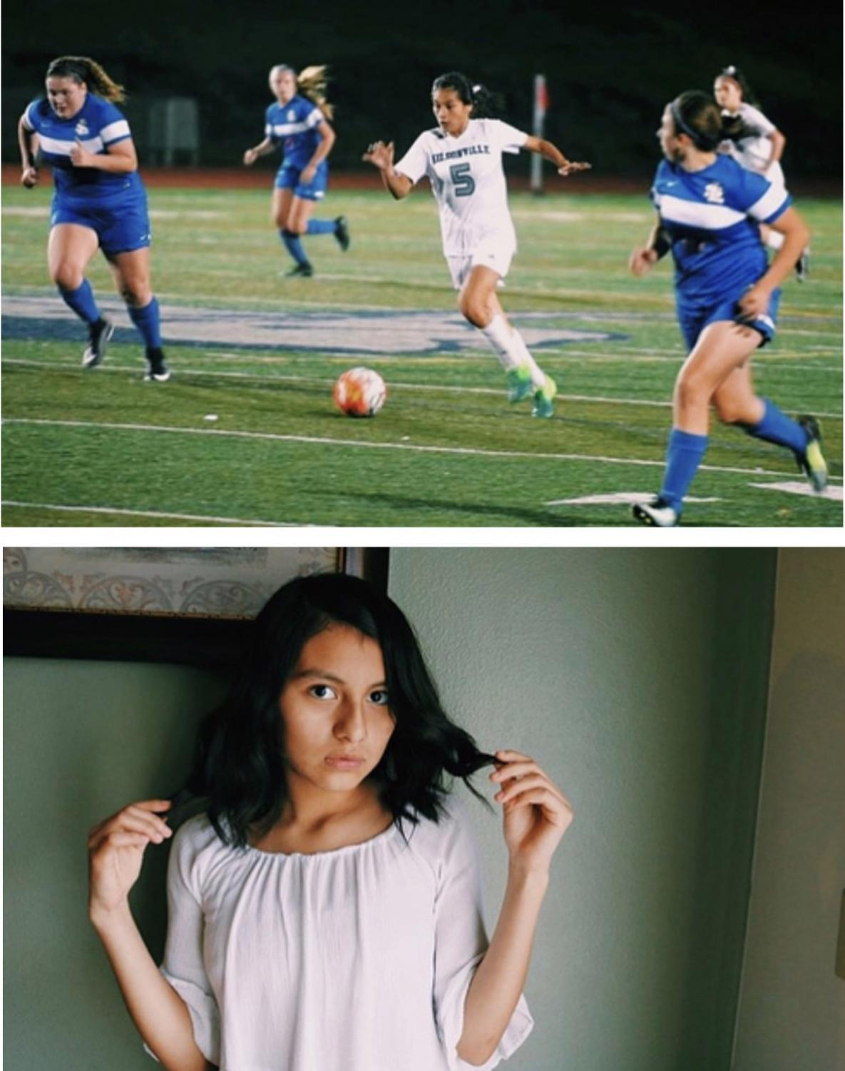 Araxi Tejeda-Martinez, student at Wilsonville High School. She will be balancing soccer and AP classes this year.