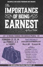 This year's winter play is The Importance of Being Earnest by Oscar Wilde
