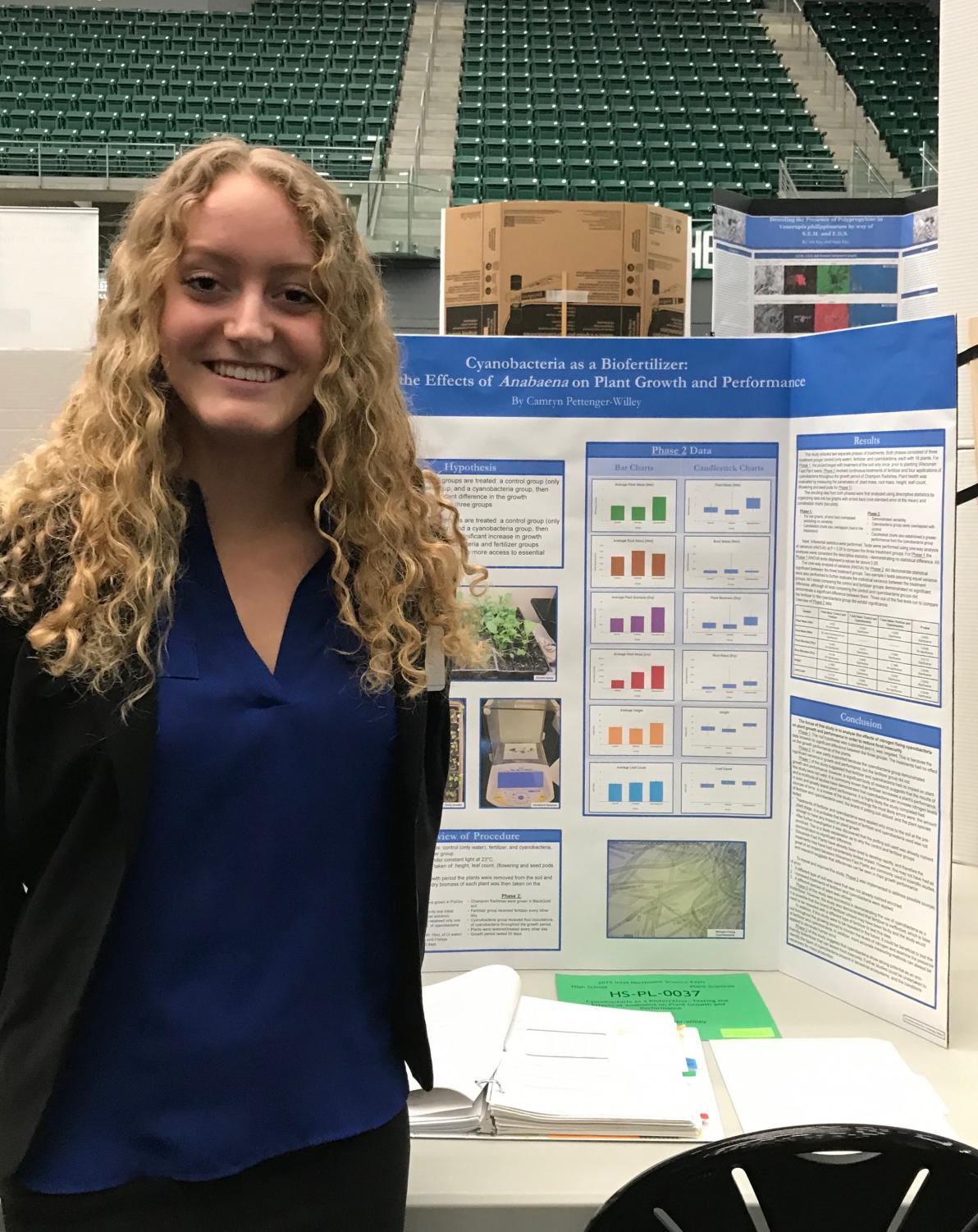 Pictured above is Camryn Pettenger-Willey competing her project at Portland State University. She plans on making it back for State next year as well.