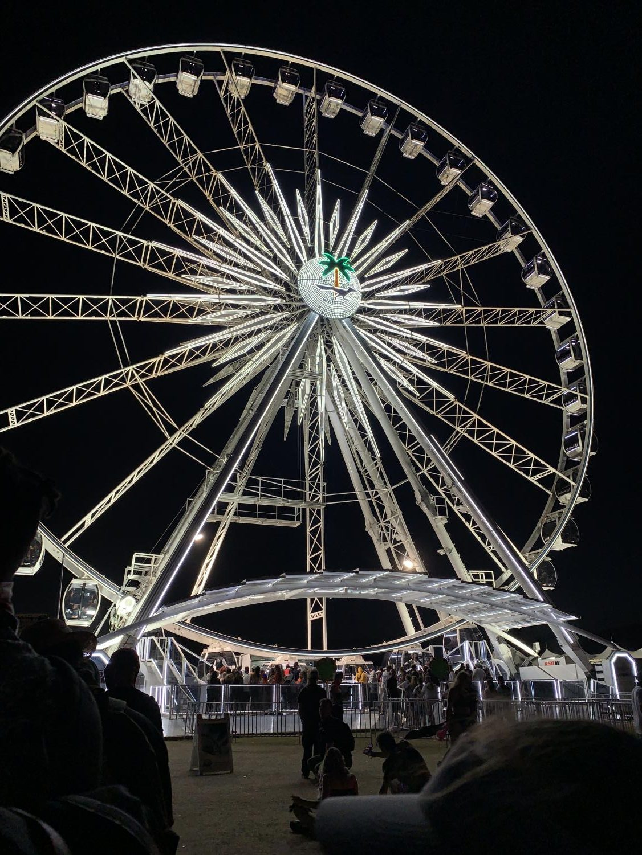 Ferris wheel at Coachella Weekend 2 in Palm Springs, California  PC: Cydney Gutridge