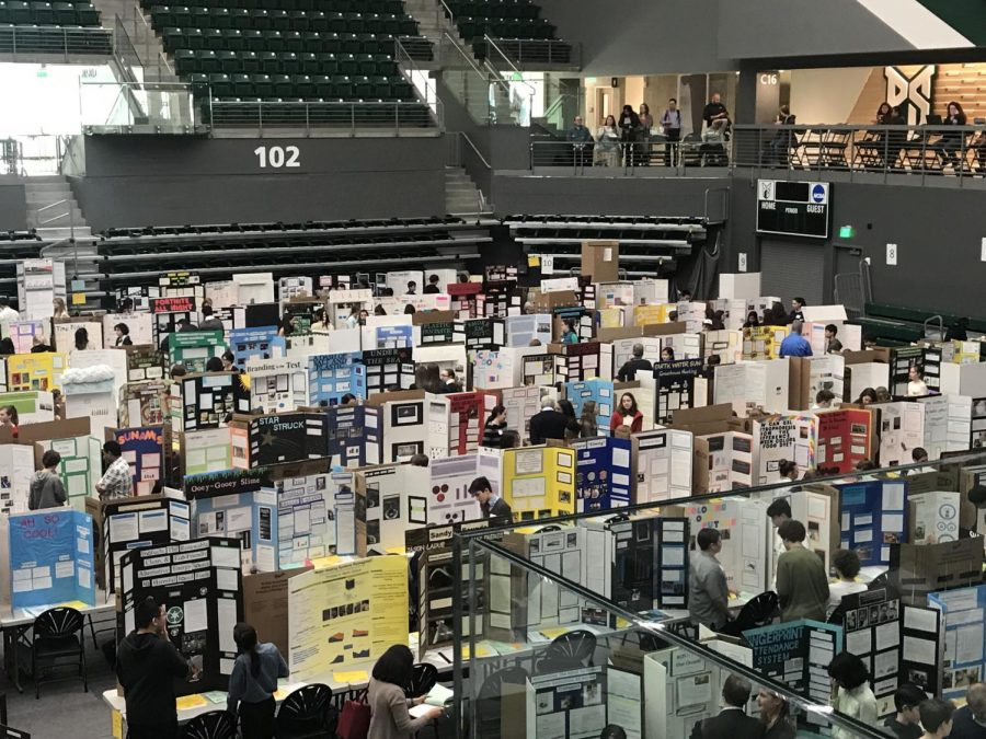 Students+from+schools+throughout+all+of+Oregon+compete+in+ISEF+at+Viking+Pavilion+at+Portland+State+University