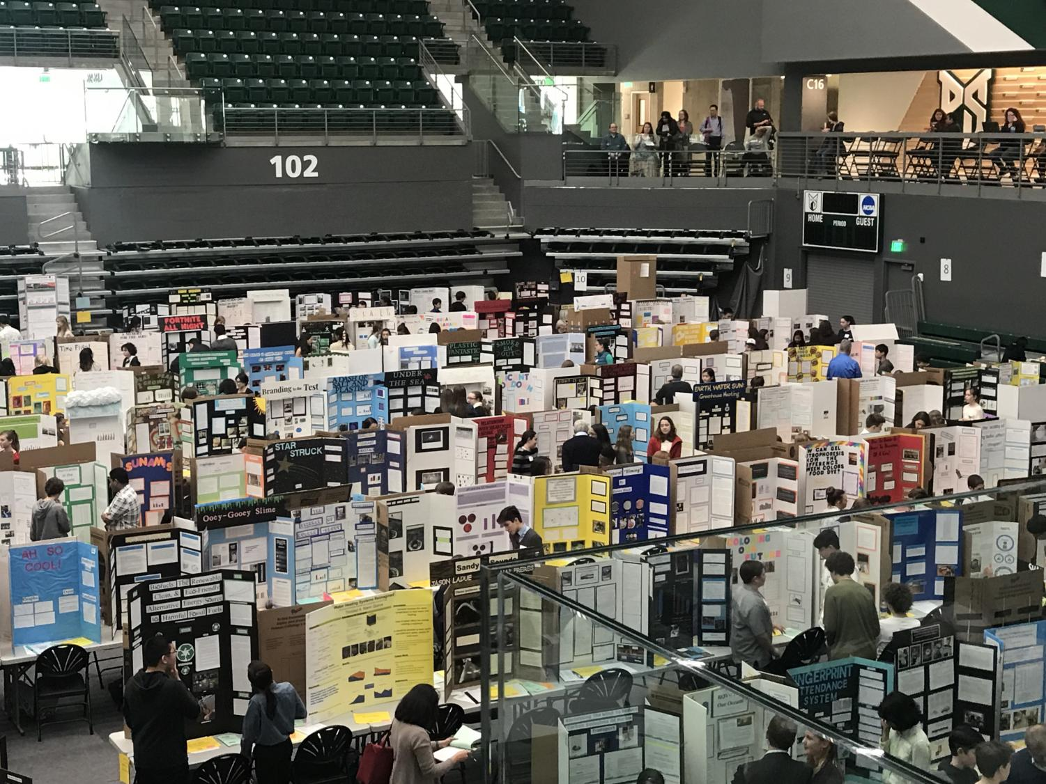 Students from schools throughout all of Oregon compete in ISEF at Viking Pavilion at Portland State University