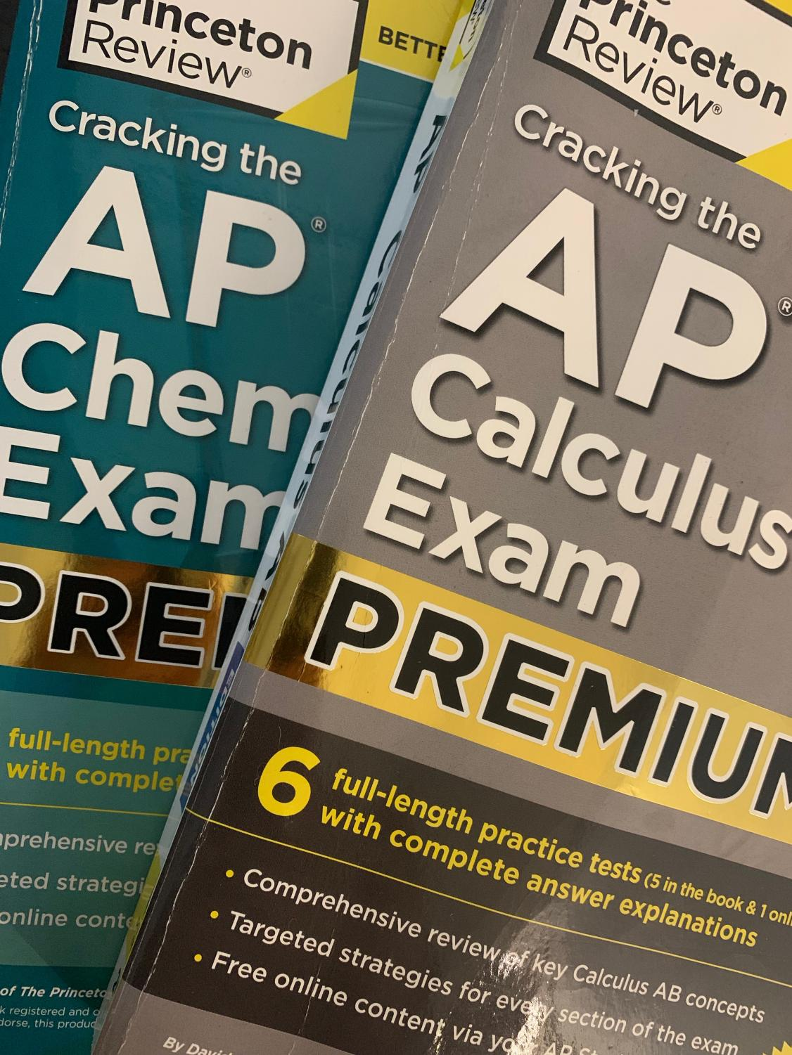 Students have used their review books to study for their mock exams. Now, they will be used to prepare the last few details for the real AP exams,