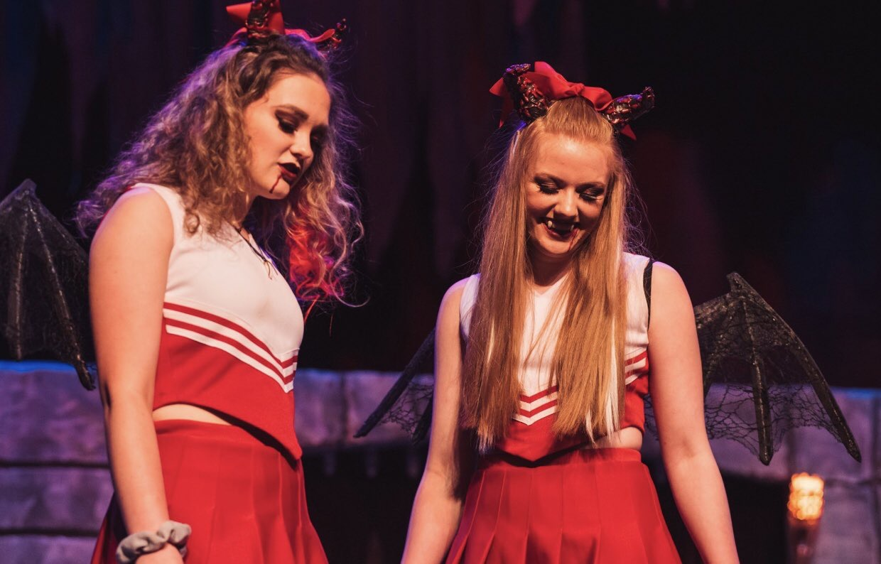 Pictured above is Kate Hedgepeth (left) and Mikaela Ochocki (right). Both girls play vampire cheerleaders who bully Tilly in the game and in real life; both are extremely comical in their acting.