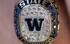 Boys basketball ring ceremony