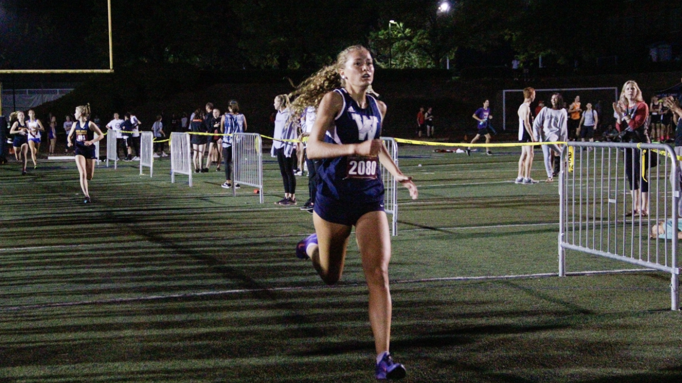 Sam Prusse in the final stretch of her race.