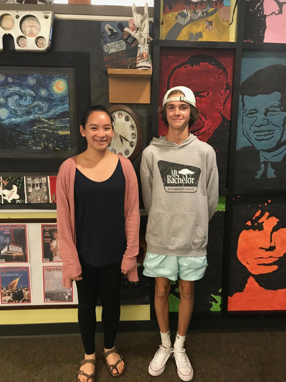Pictured above is Anthea Goh and Cole Terry, both whom are taking AP Human Geo this year.