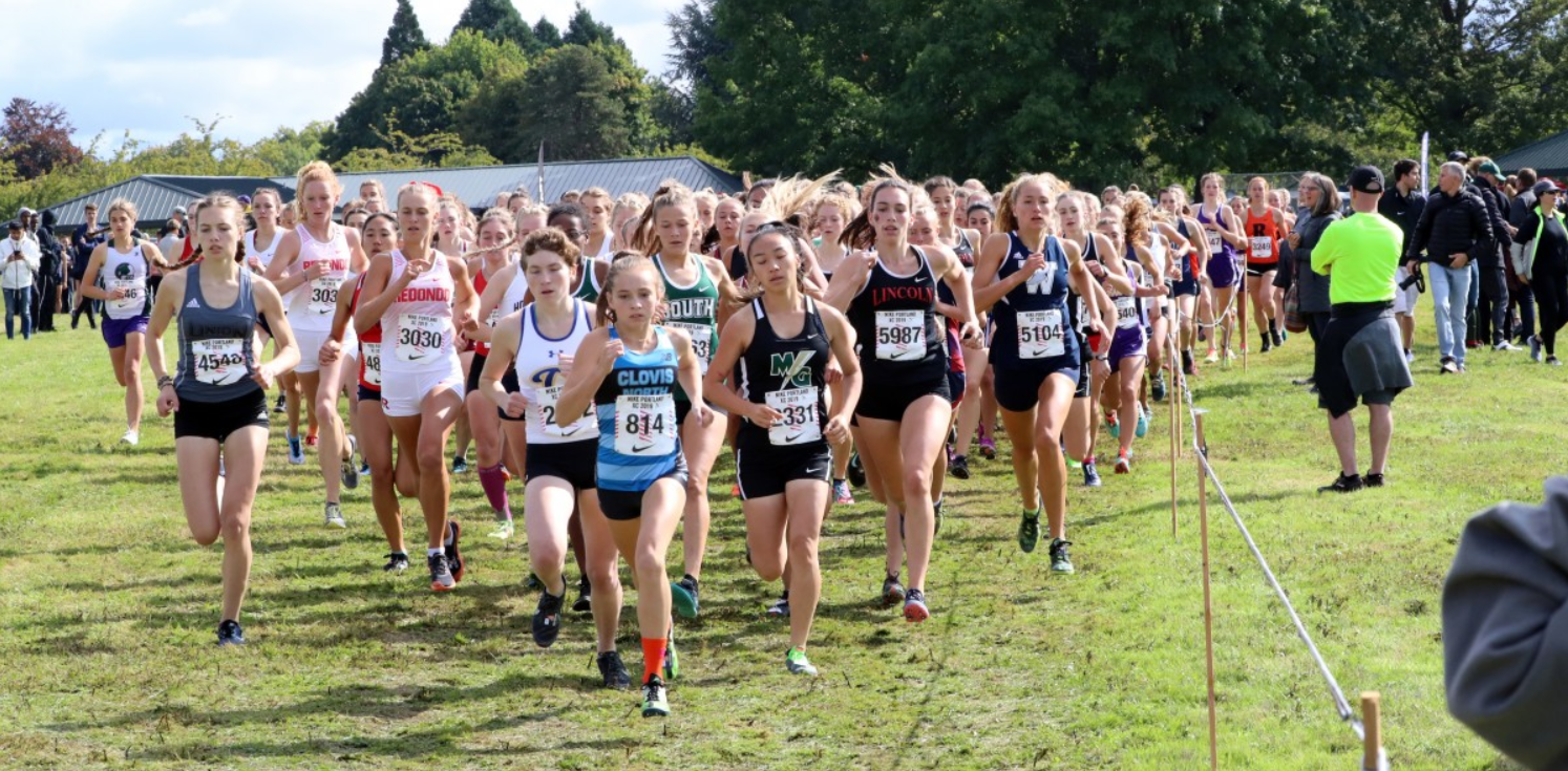 Pictured above is Sam Prusse in the first hundred-meters of the Girls' Division 1 Varsity Race.