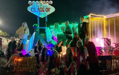The first place Las Vegas float built by the class of 2020.