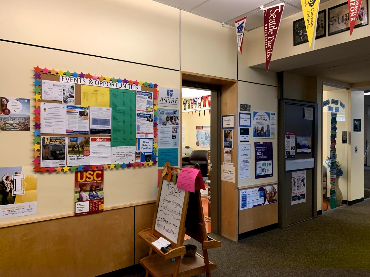 The College and Career center, located in room 92 across from the 2d art studio.