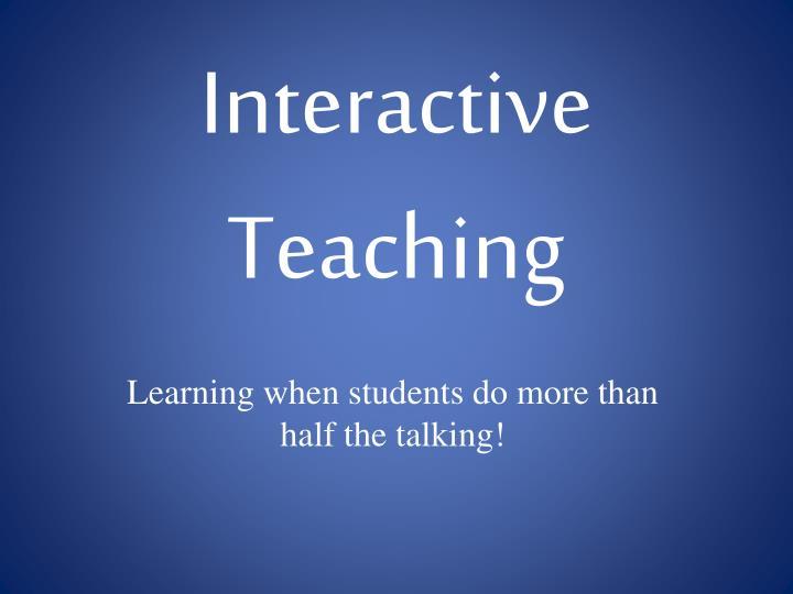 Teachers favorite teaching styles