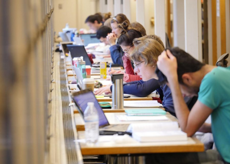 Students studying for their finals.