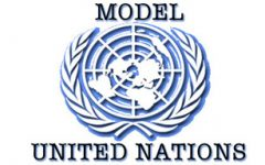 The logo for Model United Nations.