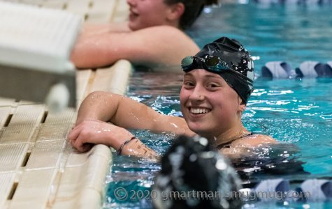 Tatum Hagen after completing the 500-yard freestyle.