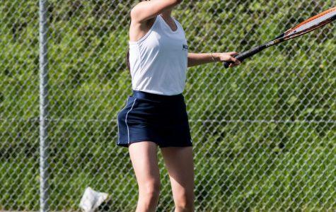 Sydney Byun, now a senior at Wilsonville High School, during the 2019 tennis season.
