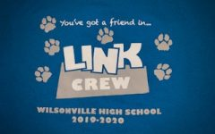 The 2019-2020 Link Crew shirt design. Members of Link Crew gave tours around the school to incoming students.