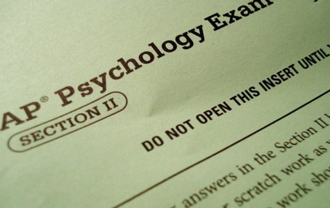 Header of a previous AP Psychology Exam. This years AP tests begin May 11th.