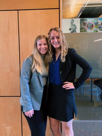 Partners Meghann Yochim (left) and Camryn Pettenger-Willey (right) were nominated to participate in the State ISEF fair.