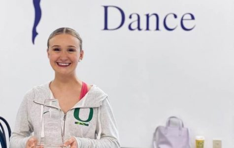 Halle Olsen receives the