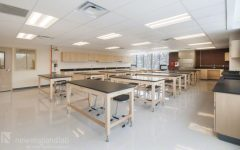 A picture of what your typical high school lab classroom looks like. WHS students are currently not allowed to complete their laboratory investigations in similar labs on campus.