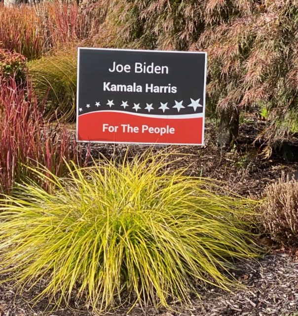 This is a yard sign found in our Wilsonville community. People are putting up candidate signs all around the Nation.