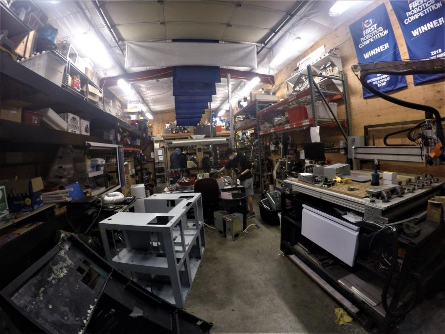 A look inside the Robotics Shed. The build season is set to begin on January 9th