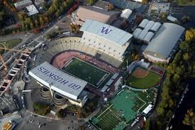 Pictured above is Husky Stadium, where the controversial game took place.