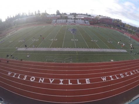 A view of Randall Stadium in recent months. Pictured here is girls soccer. The hope is activity will return to campus any time.