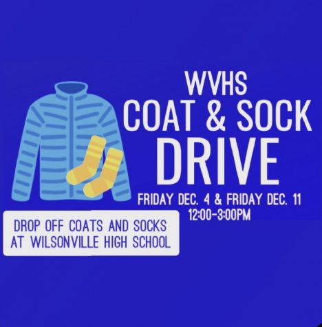 Leadership II is collecting coats and socks on December 4th and 11th for their drive. All donated clothing will go to those in need in our Wilsonville community.