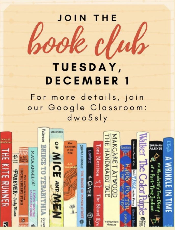 This was the poster for the very first meeting of the club. Anyone interested can still join the classroom with the code depicted in the photo.